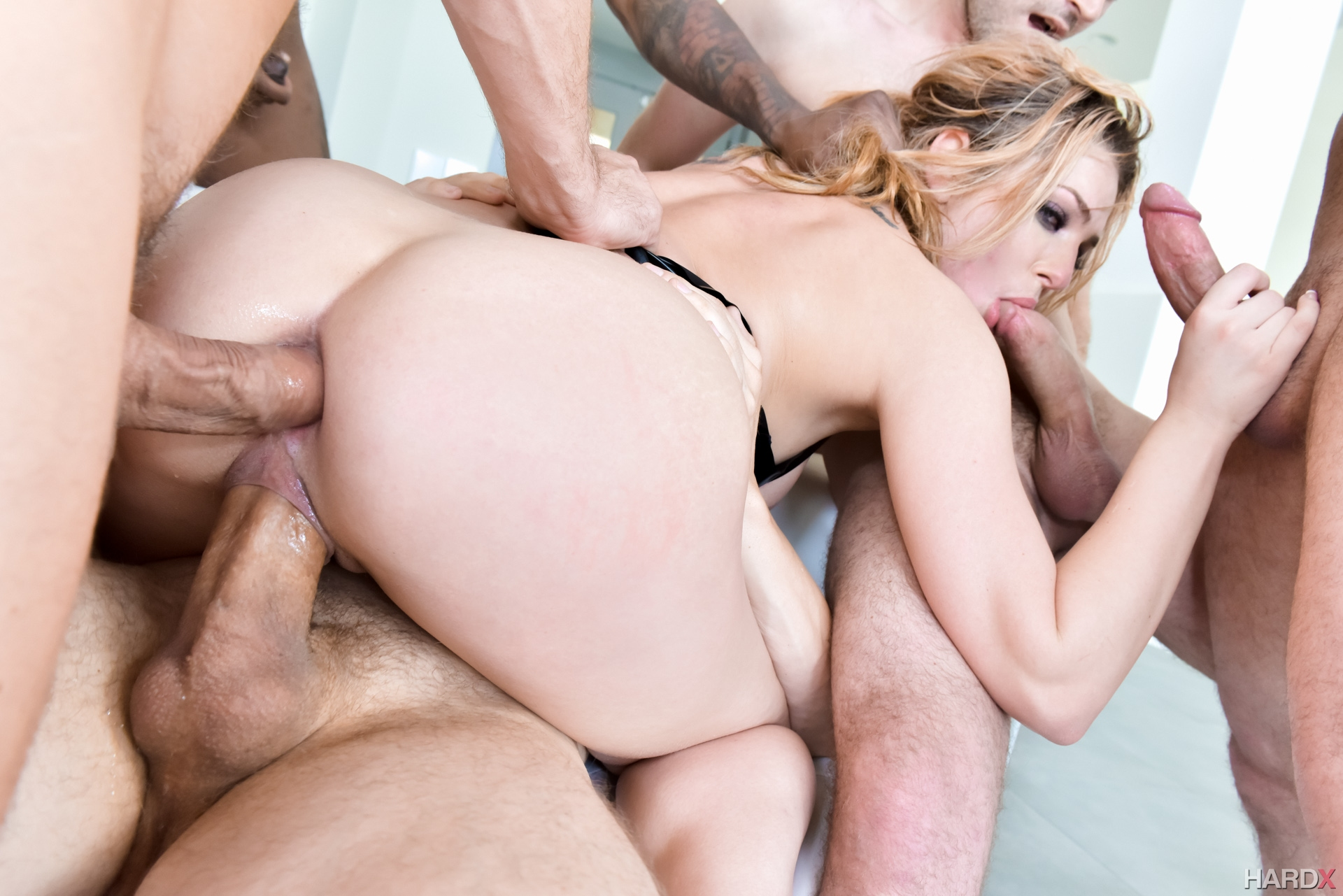 Girl Takes 3 Cocks One Hole