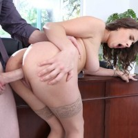 Ashley Adams big tit office babe fucked hardcore
